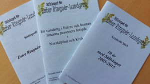 Broschyrer för Sällskapet för Ester Ringnér-Lundgren