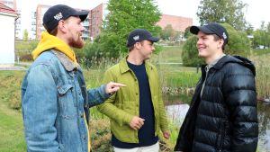 "Eddie Myrskog, Bernhard ""Bamse"" Forsten och Linus ""Limppu"" Lehto."