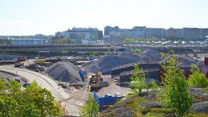Byggarbetsplats i Mellersta Böle