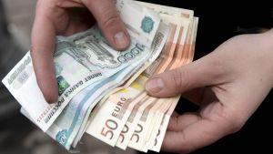 Rubel och euro