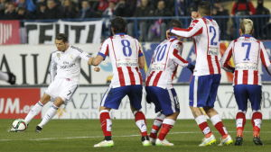 Cristiano Ronaldo har sprutat in mål också den här säsongen, men mot Atlético Madrid har det gått trögare för Real Madrids portugis.