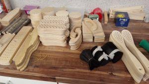 Material för Martin Lindkvists borsttillverkning