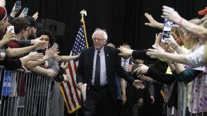 Bernie Sanders på ett valmöte i Erie, Pennsylvania 19.4.2014