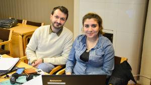 Shvan Ahmed och Nour Sorki.