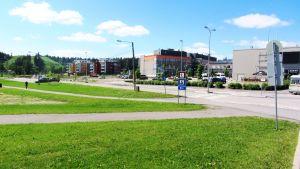 Västra åstranden och Konstfabriken i Borgå