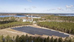 Solpaneler i Björknäs i Ekenäs.