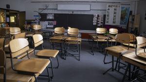 Ett tpmt klassrum i Helsingfors Viks skola.