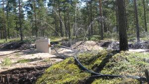 Konstgjort grundvatten i Hangö.