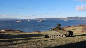 Nato Trident Junture 18 -harjoitus Bynesetissä, Trondheimissa, Norjassa.