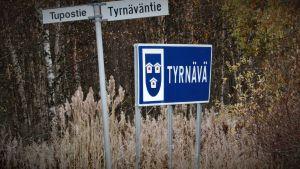 Kyltteja maantien varressa Tyrnävän rajalla.