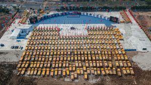 Nytt stadionbygge i Guangzhou i provinsen Guangdong 16.4.2020
