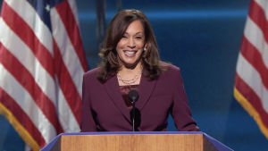 Demokraternas vicepresidentkandidat Kamala Harris