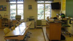 Klassrum i Barösunds skola i Ingå.