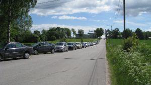 Parkeringsproblem på Billnäs sommar.
