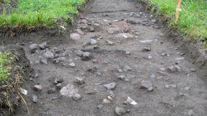 Utgrävningar vid Raseborgs ruiner.