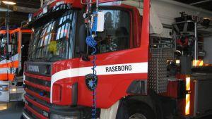 Brandbil i Raseborg