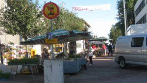 Torget på Köpmansgatan i Karis.