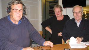 Johannes Runeberg, Lili-Ann Junell-Kousa och Frey Karlsson.