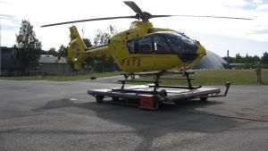 Räddningshelikoptern Pete vid Österbottens räddningsverk i Vasa.
