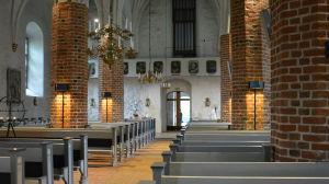Kimito kyrkas interiör.