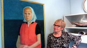 porträtt på Åsa Hellman som ung.