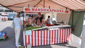 bär- och grönskasförsäljning på borgå torg