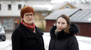 Fredagssnackare Kerstin Ståhlberg och Mikaela Sonck.