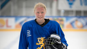 Ida Kuoppala i landslagets träningströja