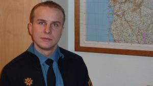 Brandsynsingenjör Thomas Nyqvist på Österbottens räddningsverk.