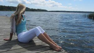 Heidi Lindvall på besök i Västnyland