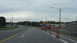 Bygget av omfartsvägen i Stenhaga längs Karlebyvägen
