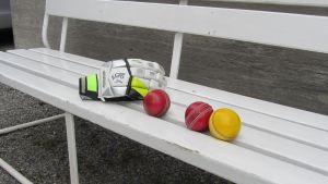 Crickethandske och bollar