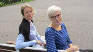 Projektkoordinator Jenny Asplund och verksamhetsledare Anna Litonius.