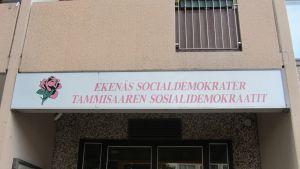 Ekenäs socialdemokraters högkvarter på Ystadsgatan 2 i Ekenäs.