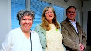 Tea Laaksoharju, Susanne Wendell och Stefan Håkans