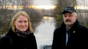 Emma Pitkäjärvi och Stefan Thölix