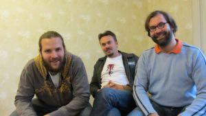 Joonas Pekkanen, Jon Sundell och Aleksi Rossi i föreningen Öppna ministeriet.