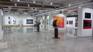 Utställningssal i Galleri Gumbostrand
