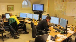 Nätchef MAgnus Nylander har koll på vinterstormen