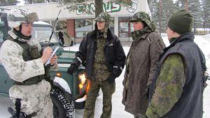 Militärpolisen övar