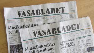 Gårdagens och dagens Vasablad.