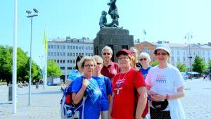 Deltagarna i söndagsvandringen i Vasa