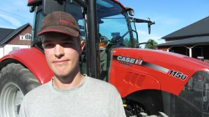 Sven Gustafsson tycker om traktorer
