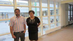Rektor Erik Wolff och bildningschef Tina Nordman.
