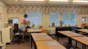 klassrum i sjundeå svenska skola
