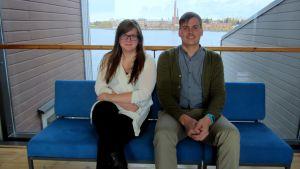 Caroline Lång och Christoffer Hällfors