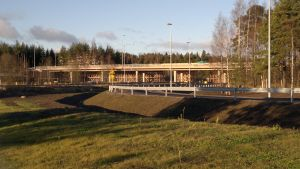 Planskild korsning i Suikkila på riksväg 8