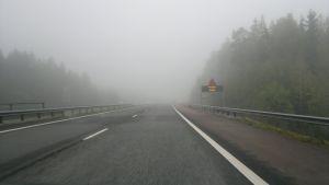 Dimma på motorvägen