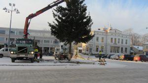 julgranen på ekenäs torg tas ner