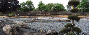 Den halvfärdiga japanska trädgården i Borgå 12.6.2012